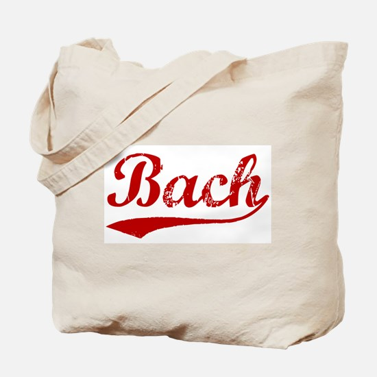 Bach (red vintage) Tote Bag