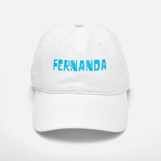 Fernanda Faded (Blue) Baseball Baseball Cap