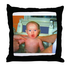 Shocked Baby n Sync Throw Pillow