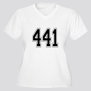 441 Womes Plus-Size V-Neck T-Shirt