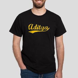 Vintage Aditya (Orange) Dark T-Shirt
