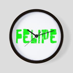 Felipe Faded (Green) Wall Clock