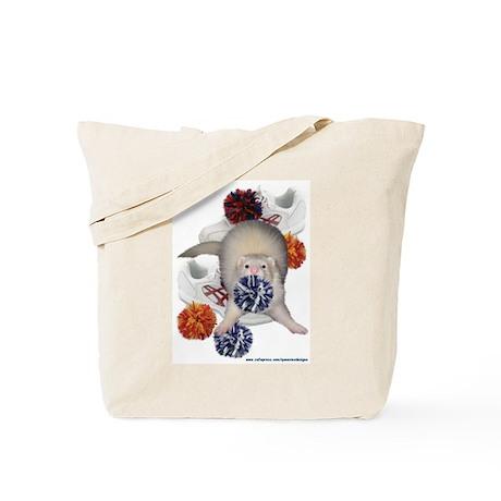 Cheerleading Ferret Tote Bag