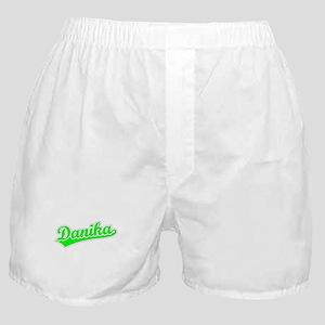 Retro Danika (Green) Boxer Shorts