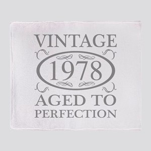 1978 Aged To Perfection Throw Blanket