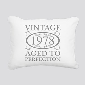 1978 Aged To Perfection Rectangular Canvas Pillow