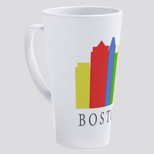 Boston skyline 17 oz Latte Mug