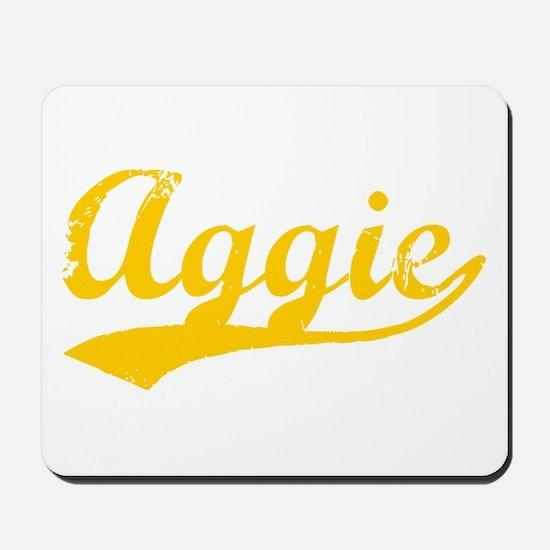 Vintage Aggie (Orange) Mousepad