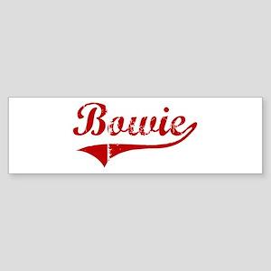 Bowie (red vintage) Bumper Sticker
