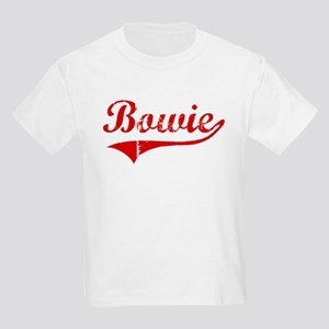 Bowie (red vintage) Kids Light T-Shirt