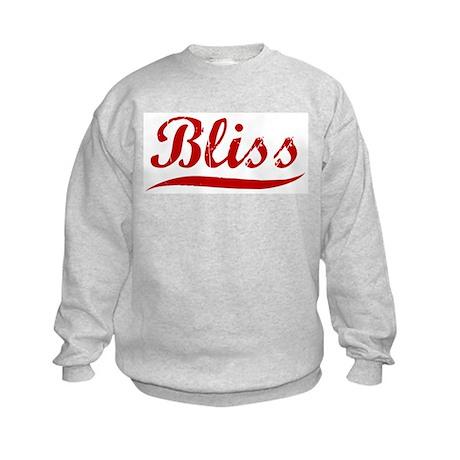 Bliss (red vintage) Kids Sweatshirt