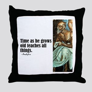 "Aeschylus ""Time"" Throw Pillow"