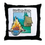 Eat. Sleep. Camp Throw Pillow