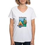 Eat. Sleep. Camp Women's V-Neck T-Shirt