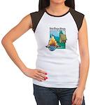 Eat. Sleep. Camp Women's Cap Sleeve T-Shirt