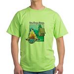 Eat. Sleep. Camp Green T-Shirt