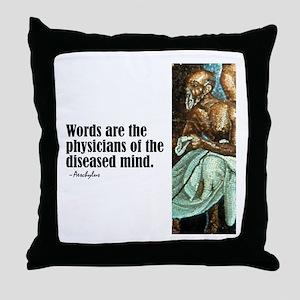 "Aeschylus ""Words"" Throw Pillow"