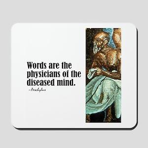 "Aeschylus ""Words"" Mousepad"