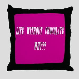 Purple w/White Throw Pillow