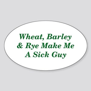 Wheat, Barley & Rye Celiac Oval Sticker