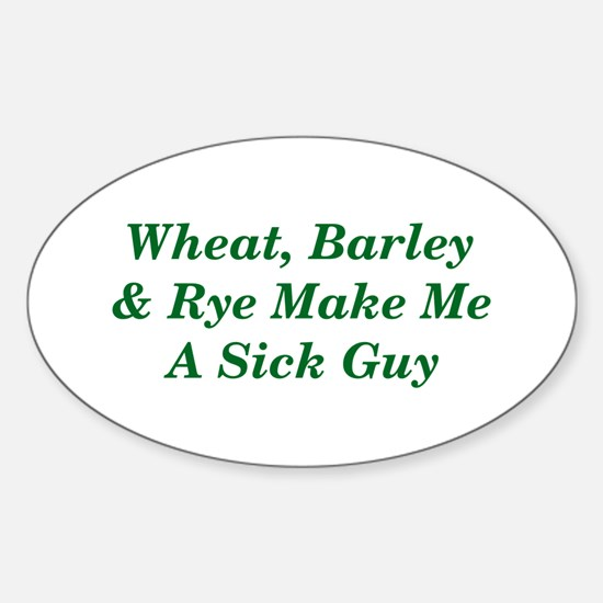 Wheat, Barley & Rye Celiac Oval Decal