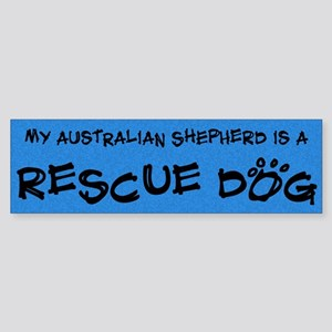 Rescue Dog Australian Shepherd Bumper Sticker