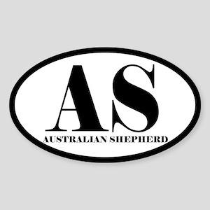 AS Abbreviation Australian Shepherd Sticker