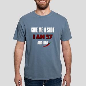 Give Me A Shot I Am 57 A Mens Comfort Colors Shirt