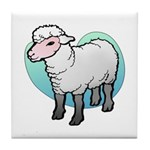 Easter Art Lamb Tile Coaster