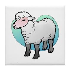 Easter Art Lamb Tile Coaster