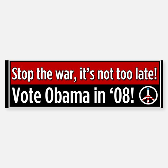 Stop The War Bumper Bumper Bumper Sticker