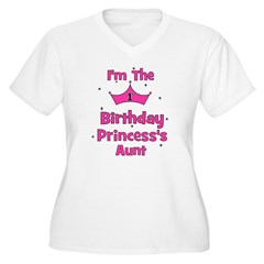1st Birthday Princess's Aunt! T-Shirt