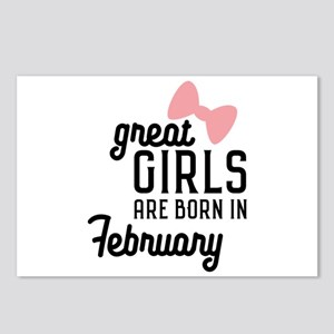 Great Girls are born in F Postcards (Package of 8)