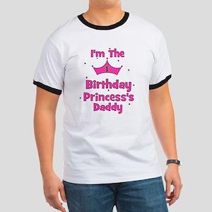 1st Birthday Princess's Daddy Ringer T