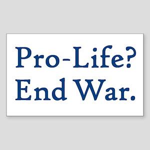 Pro-Life, End War Rectangle Sticker