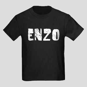 Enzo Faded (Silver) Kids Dark T-Shirt