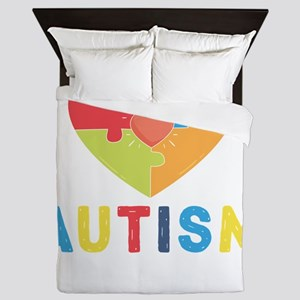 Autism Awareness Month Queen Duvet