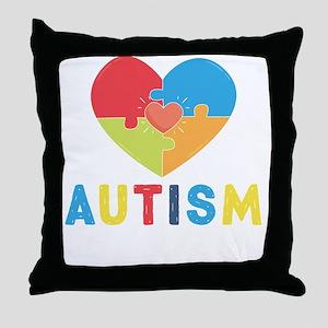 Autism Awareness Month Throw Pillow