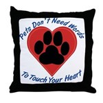 Touch Your Heart Throw Pillow