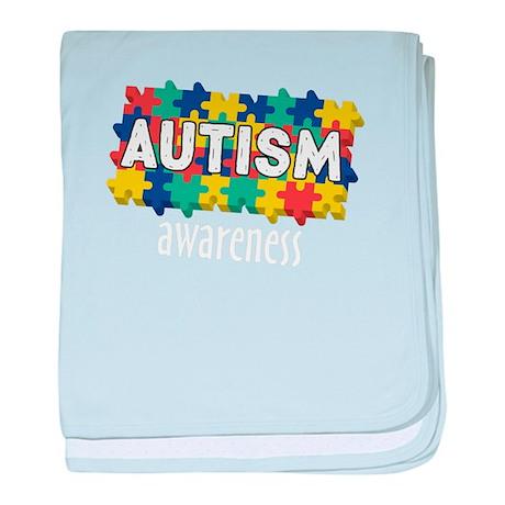 Autism Awareness Month - Puzzle baby blanket