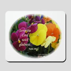Multi-colored Pansies Mousepad