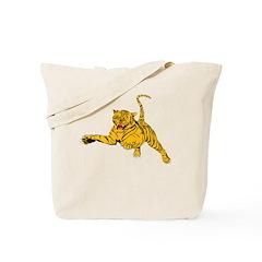 Tiger Attack Tote Bag