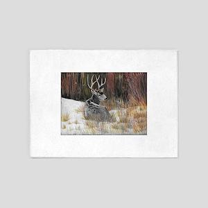 Winter Buck 5'x7'Area Rug