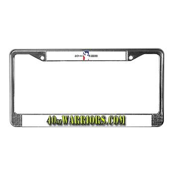 40-oz Logo - License Plate Frame