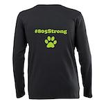 #805strong Paw Print Plus Size Women's T-Shirt
