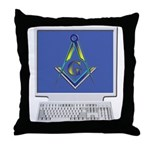 Internet Masons Throw Pillow