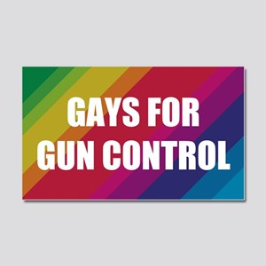 Gays For Gun Control Car Magnet 20 x 12