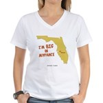I'm BIG in Mypance Women's V-Neck T-Shirt