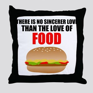 The Love of Food Throw Pillow