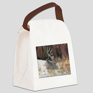 Winter Buck Canvas Lunch Bag